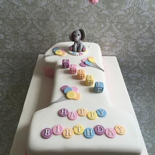 Elephant balloons cake