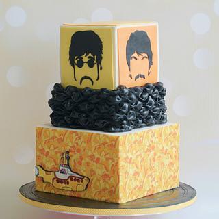 Fab Four - Cake by Sugar Street Studios by Zoe Burmester
