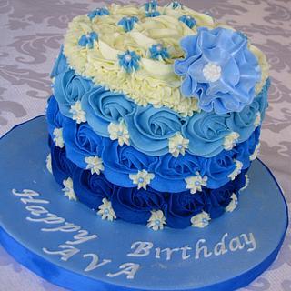 Tiffany blue rosettes - Cake by Mira - Mirabella Desserts