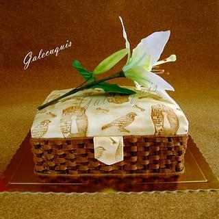 Sewing basket and lilium