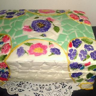 Stained Glass Jewelry Box cake! - Cake by Bakemywaytoheaven