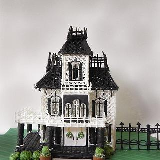Royal Icing Haunted Mansion house structure