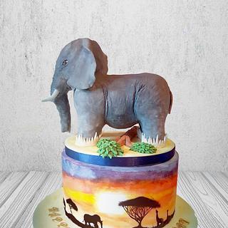 African Elephant Cake