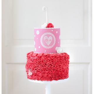 1st birthday cake - Cake by Taartjes van An (Anneke)