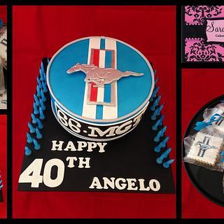 40th Male Birthday Cake - Cake by Wendy - Saraphia Kakes