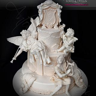 Baroque stile wedding cake