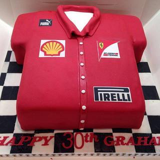 Ferrari Shirt cake - Cake by Enchanting Cupcakes hobby cakes