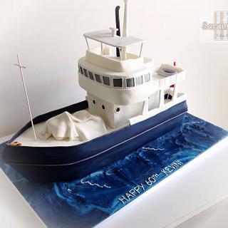 Kevins Boat Cake