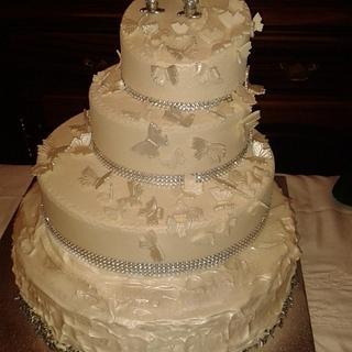 25-year wedding cake