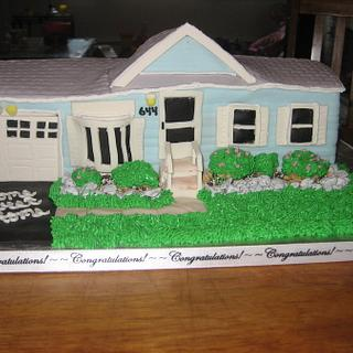 Housewarming Cake - Cake matches their house exactly!!!
