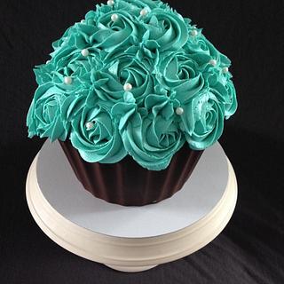 Teal Giant Cupcake