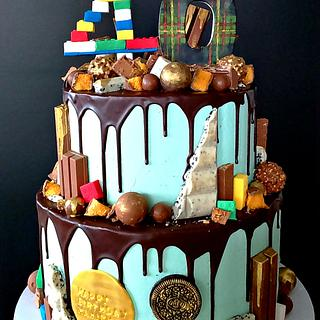 40th Birthday Chocolate Drip Cake