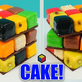 New 'twist' on a Rubik's Cube Cake
