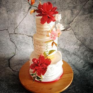 Vintage chic wedding cake - Cake by Savitha Alexander