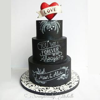 Chalkboard Groom's cake