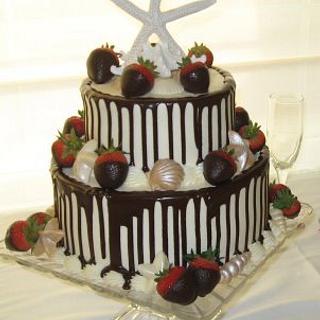 Chocolate Strawberries, Seashells and Starfish
