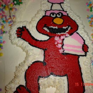 Elmo Buttercream Transfer - Cake by Dana