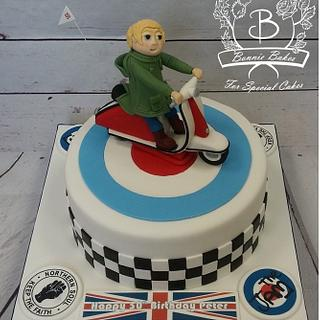 Mod scooter cake