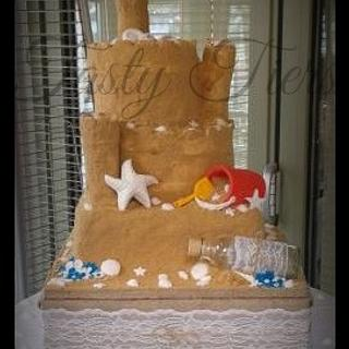 sandcastle cake...my first wedding cake