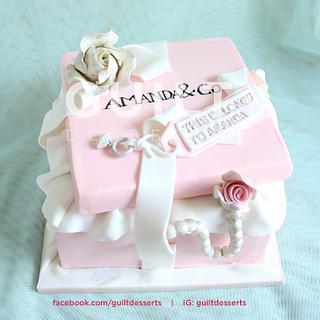 Pink Tiffany Box Cake, Cupcakes, Cakepops