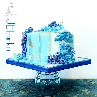 Monday blues - Cake by Judith-JEtaarten