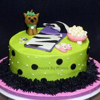 Slumber Party with My Yorkie - Cake by Sweets By Monica