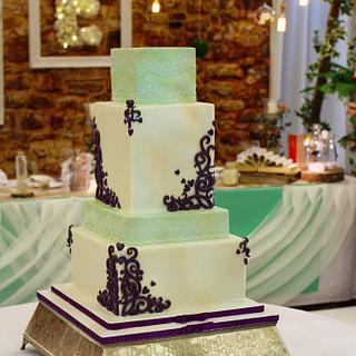 Filagree wedding cake - Cake by Amelia Rose Cake Studio