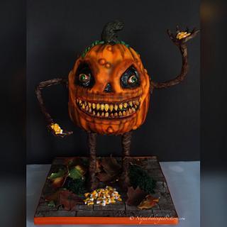 Zombie Pumpkin Cake