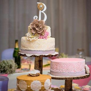 Country Chic Wedding Cake