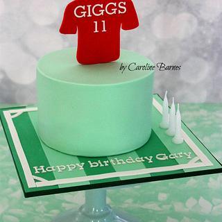 Football themed cake