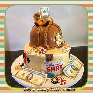 Vegas birthday/graduation cake