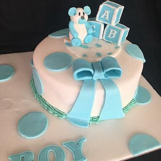 A Boys Baby Shower Cake