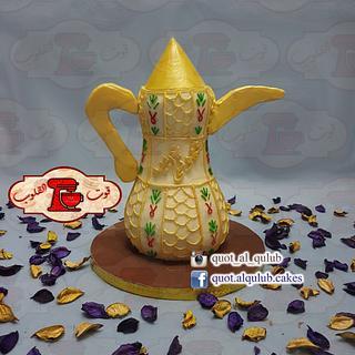 3D Arabic Coffee Dallah Cake