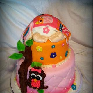 Owl Themed Baby Shower Cake - Cake by Angel Rushing
