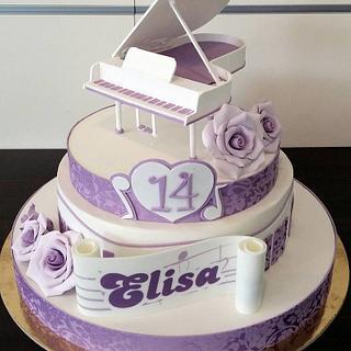 Romantic Piano.  - Cake by simonelopezartist