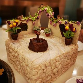 birthday cake - garden miniature