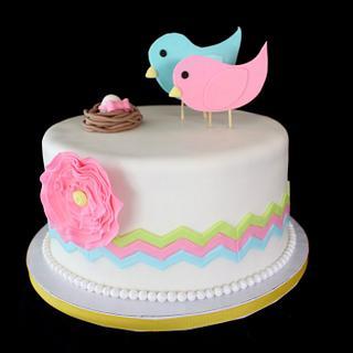 Nesting Birds Cake  - Cake by Jewell Coleman