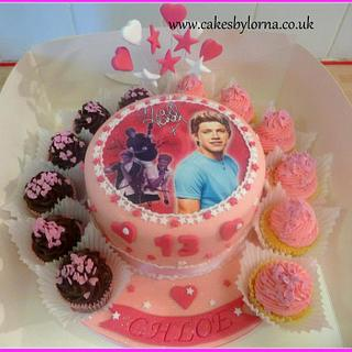 1D One Direction Music Band Niall Cake and Cupcakes