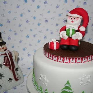 Santa Topper Cake