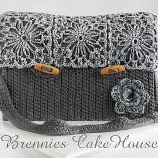 crochetted bohemian bag