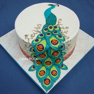 Clemson Peacock Engagement Party Cake