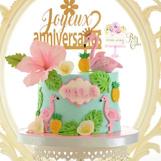 Flamingo cake  - Cake by BettyCakesEbthal