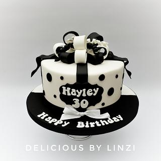 Black and white half and half cake - Cake by Delicious By Linzi