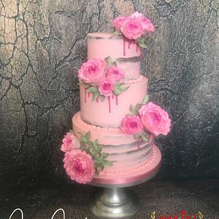 Pink weddingcake