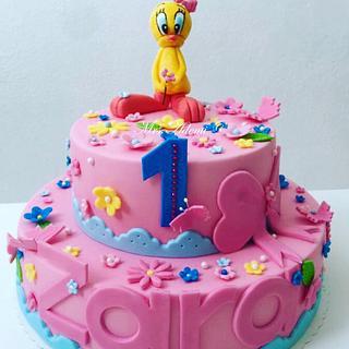 Sweet TWEETY Birthdaycake