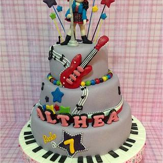 Rockstar 3 tiered cake
