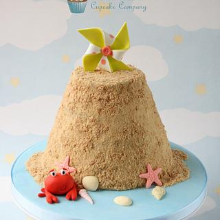 Sandcastle Smash Cake