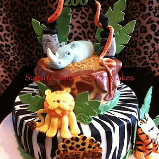 Zoo Birthday Cake