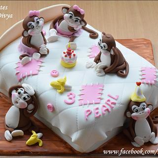 Five Monkeys Cake - Cake by Divya Haldipur