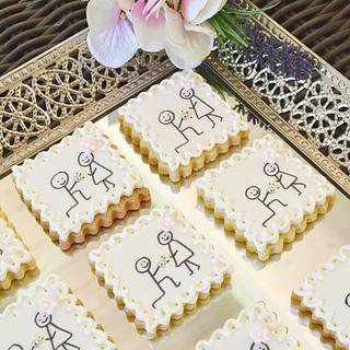 """I  do"" engagement announcement cookies"